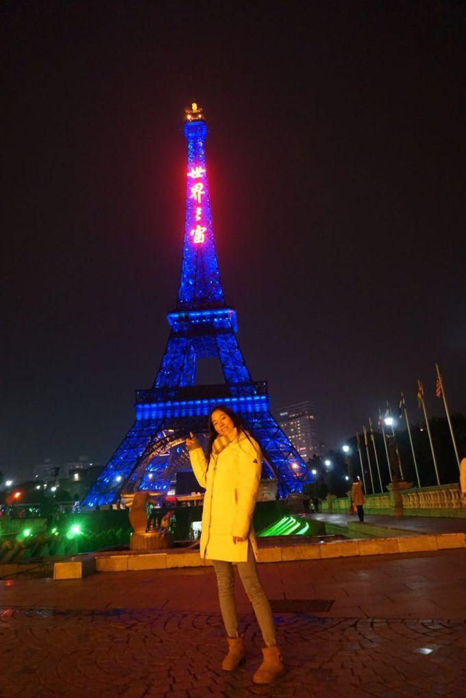 世界之窗,拉菲尔铁塔到此一游 终于有两个人的合照啦,没骗你们吧,真