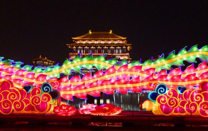 【倒敘五-西安2日】-鄭州出發去西安,芙蓉園的燈展,大明宮的寂寞圖片
