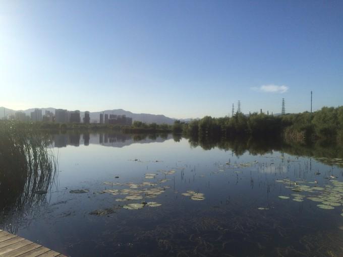 莲河学校风景图片