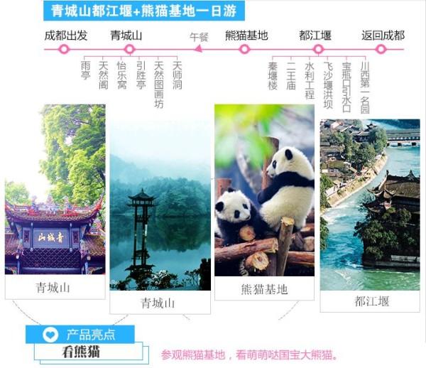 绝美之旅·都江堰 青城山 熊猫乐园【纯玩】一日游 品